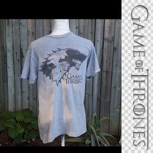 Size M Game of Thrones grey T-shirt men's